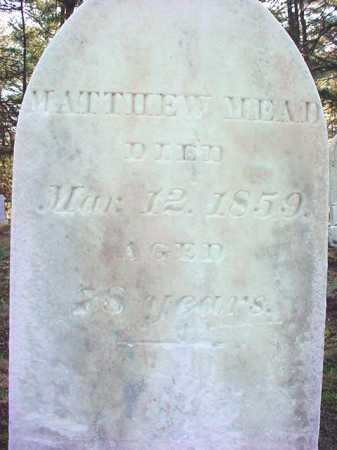 MEAD, MATTHEW - Warren County, New York | MATTHEW MEAD - New York Gravestone Photos