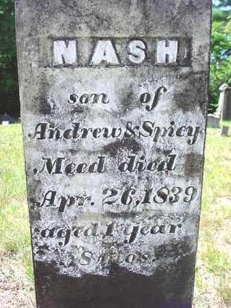 MEAD, NASH - Warren County, New York   NASH MEAD - New York Gravestone Photos