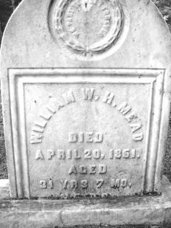 MEAD, WILLIAM W H - Warren County, New York | WILLIAM W H MEAD - New York Gravestone Photos