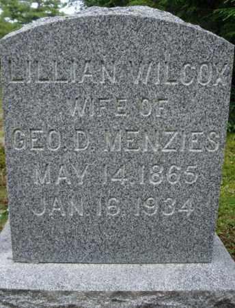 WILCOX MENZIES, LILLIAN - Warren County, New York | LILLIAN WILCOX MENZIES - New York Gravestone Photos