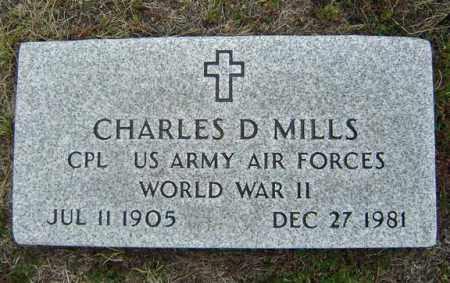 MILLS, CHARLES D - Warren County, New York | CHARLES D MILLS - New York Gravestone Photos