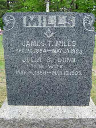 MILLS, JAMES T - Warren County, New York | JAMES T MILLS - New York Gravestone Photos
