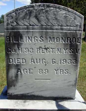 MONROE, BILLINGS - Warren County, New York | BILLINGS MONROE - New York Gravestone Photos