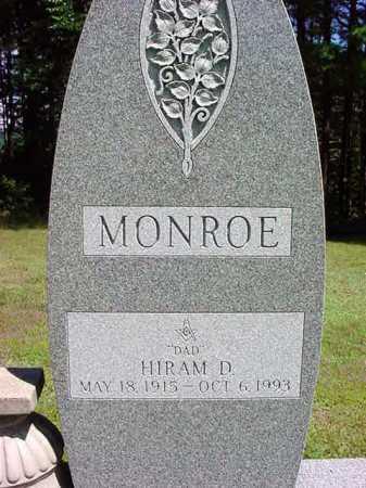 MONROE, HIRAM D - Warren County, New York | HIRAM D MONROE - New York Gravestone Photos
