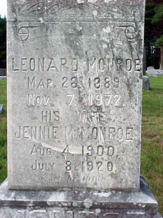MONROE, JENNIE M - Warren County, New York | JENNIE M MONROE - New York Gravestone Photos