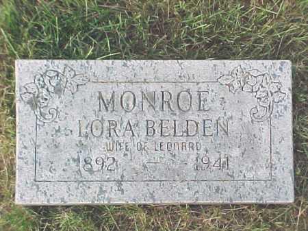 MONROE, LORA - Warren County, New York | LORA MONROE - New York Gravestone Photos