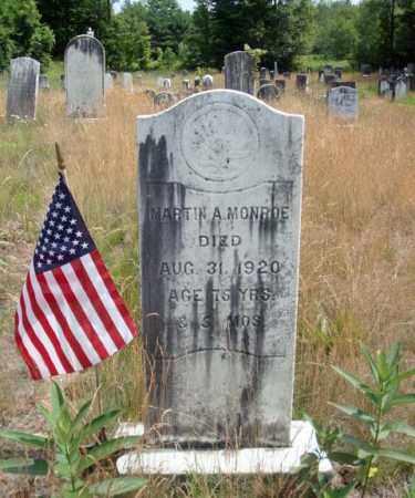 MONROE, MARTIN A - Warren County, New York | MARTIN A MONROE - New York Gravestone Photos