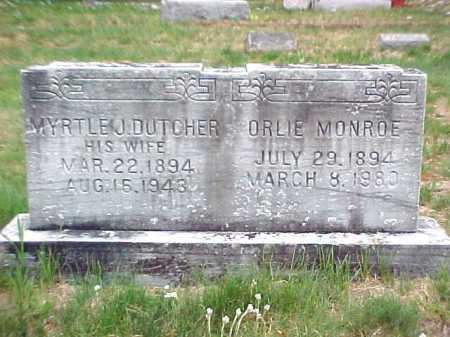MONROE, MYRTLE J - Warren County, New York | MYRTLE J MONROE - New York Gravestone Photos