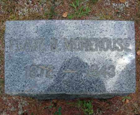 MOREHOUSE, FRANK D - Warren County, New York | FRANK D MOREHOUSE - New York Gravestone Photos