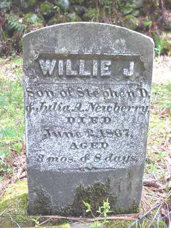 NEWBERRY, WILLIE J - Warren County, New York | WILLIE J NEWBERRY - New York Gravestone Photos
