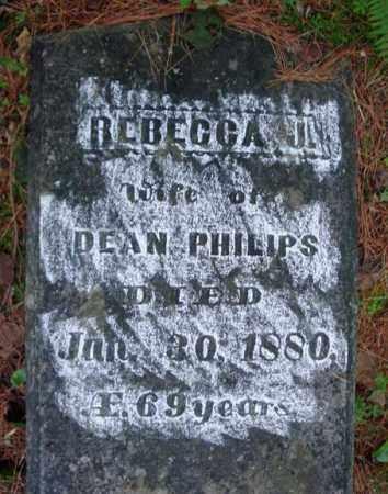 PHILIPS, REBECCA J - Warren County, New York | REBECCA J PHILIPS - New York Gravestone Photos