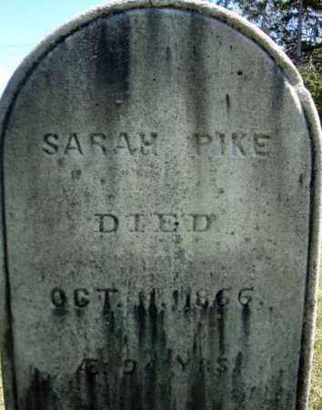 PIKE, SARAH - Warren County, New York   SARAH PIKE - New York Gravestone Photos