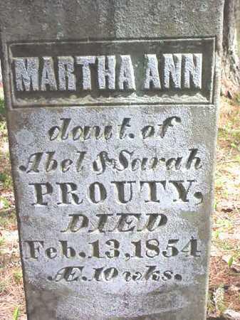PROUTY, MARTHA ANN - Warren County, New York | MARTHA ANN PROUTY - New York Gravestone Photos