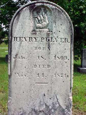 PULVER, HENRY - Warren County, New York | HENRY PULVER - New York Gravestone Photos