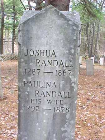 RANDALL, JOSHUA - Warren County, New York | JOSHUA RANDALL - New York Gravestone Photos
