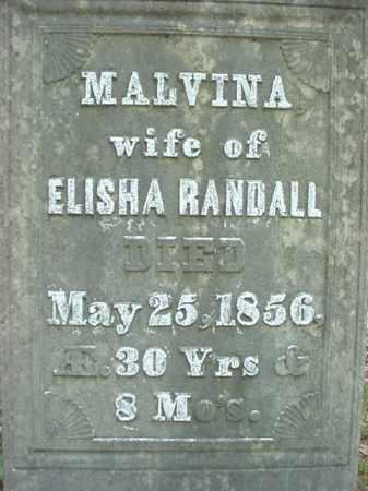 RANDALL, MALVINA - Warren County, New York | MALVINA RANDALL - New York Gravestone Photos