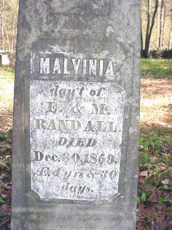 RANDALL, MALVINIA - Warren County, New York | MALVINIA RANDALL - New York Gravestone Photos