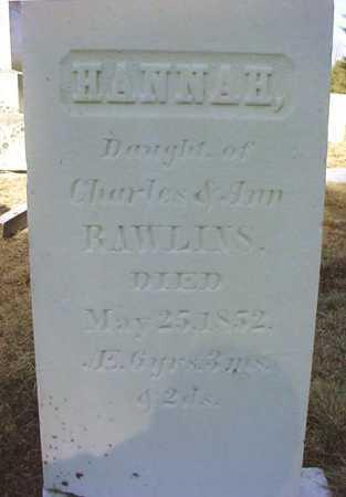 RAWLINS, HANNAH - Warren County, New York   HANNAH RAWLINS - New York Gravestone Photos