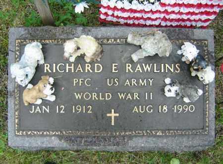 RAWLINS, RICHARD E - Warren County, New York | RICHARD E RAWLINS - New York Gravestone Photos