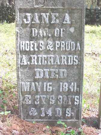 RICHARDS, JANE A - Warren County, New York | JANE A RICHARDS - New York Gravestone Photos