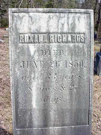 RICHARDS, ROXANA - Warren County, New York | ROXANA RICHARDS - New York Gravestone Photos