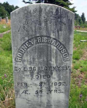 RICHARDSON, RODNEY - Warren County, New York   RODNEY RICHARDSON - New York Gravestone Photos
