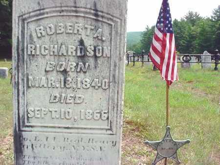 RICHARDSON (CW), ROBERT A - Warren County, New York | ROBERT A RICHARDSON (CW) - New York Gravestone Photos