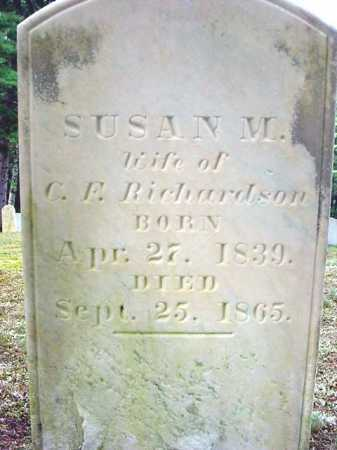 RICHARDSON, SUSAN M - Warren County, New York | SUSAN M RICHARDSON - New York Gravestone Photos