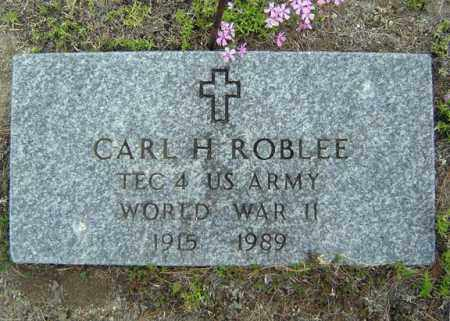 ROBLEE (WWII), CARL H - Warren County, New York | CARL H ROBLEE (WWII) - New York Gravestone Photos