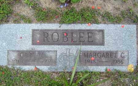 ROBLEE, MARGARET C - Warren County, New York | MARGARET C ROBLEE - New York Gravestone Photos