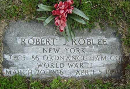ROBLEE, ROBERT J - Warren County, New York | ROBERT J ROBLEE - New York Gravestone Photos