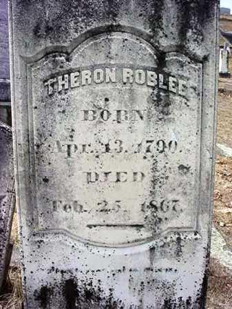 ROBLEE, THERON - Warren County, New York | THERON ROBLEE - New York Gravestone Photos