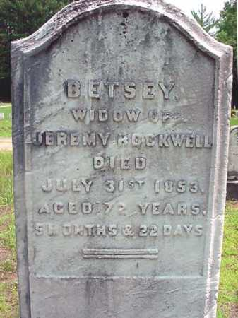 ROCKWELL, BETSEY - Warren County, New York | BETSEY ROCKWELL - New York Gravestone Photos