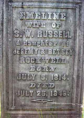 ROCKWELL, EMELINE - Warren County, New York | EMELINE ROCKWELL - New York Gravestone Photos