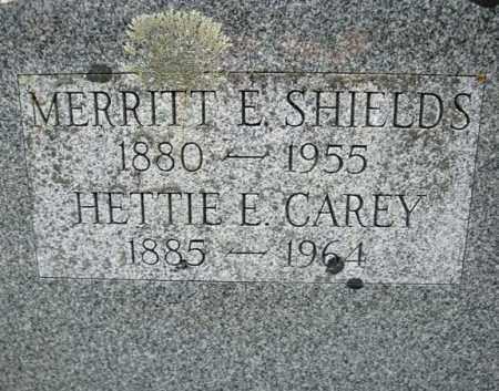 CAREY SHIELDS, HETTIE E - Warren County, New York | HETTIE E CAREY SHIELDS - New York Gravestone Photos