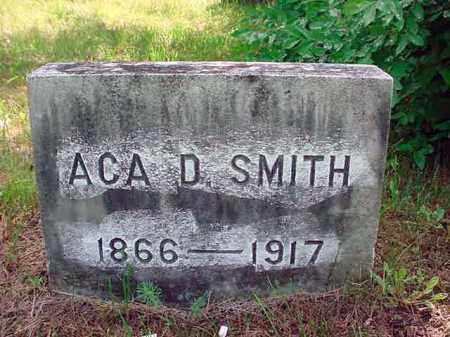 SMITH, ACA D - Warren County, New York | ACA D SMITH - New York Gravestone Photos