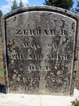 SMITH, ZERUAH R - Warren County, New York | ZERUAH R SMITH - New York Gravestone Photos