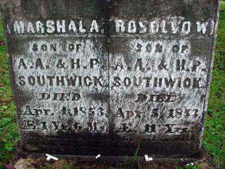 SOUTHWICK, MARSHAL A - Warren County, New York | MARSHAL A SOUTHWICK - New York Gravestone Photos