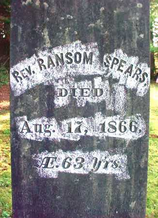 SPEARS, RANSOM - Warren County, New York | RANSOM SPEARS - New York Gravestone Photos