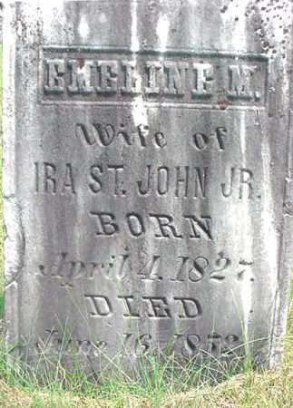 ST JOHN, EMELINE M - Warren County, New York | EMELINE M ST JOHN - New York Gravestone Photos