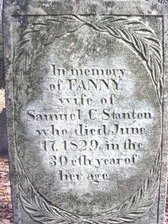 STANTON, FANNY - Warren County, New York | FANNY STANTON - New York Gravestone Photos