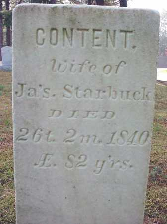 STARBUCK, CONTENT - Warren County, New York | CONTENT STARBUCK - New York Gravestone Photos