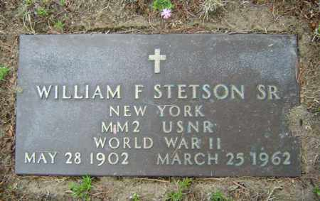 STETSON, WILLIAM F - Warren County, New York | WILLIAM F STETSON - New York Gravestone Photos