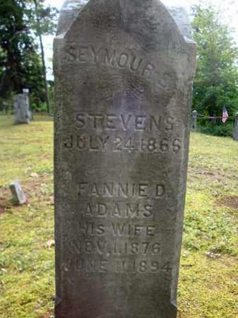STEVENS, SEYMOUR S - Warren County, New York | SEYMOUR S STEVENS - New York Gravestone Photos