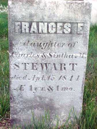 STEWART, FRANCES E - Warren County, New York | FRANCES E STEWART - New York Gravestone Photos