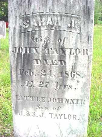 TAYLOR, SARAH J - Warren County, New York | SARAH J TAYLOR - New York Gravestone Photos