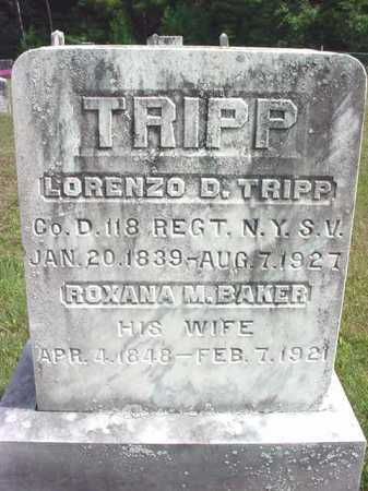 BAKER, ROXANNA M - Warren County, New York | ROXANNA M BAKER - New York Gravestone Photos