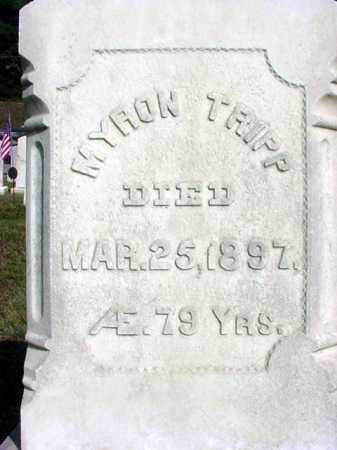 TRIPP, MYRON - Warren County, New York | MYRON TRIPP - New York Gravestone Photos