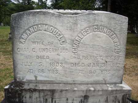 UNDERWOOD, AMANDA M - Warren County, New York | AMANDA M UNDERWOOD - New York Gravestone Photos