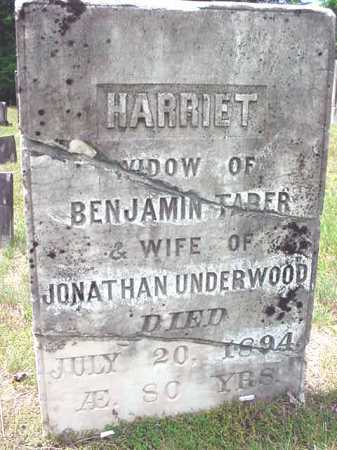 TABER UNDERWOOD, HARRIET - Warren County, New York | HARRIET TABER UNDERWOOD - New York Gravestone Photos